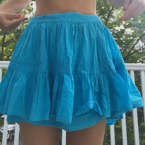 Blue embroidered skirt💙💙💙